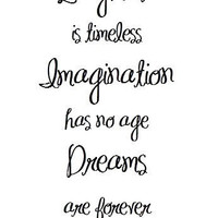 Laughter Imagination Dreams - Tinkerbell Quote Art Print by prettypetalspaper