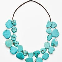 Women's Panacea Chunky Double Row Howlite Necklace - Turquoise