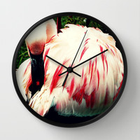 Pink Flamingo  Wall Clock by Oksana's Art