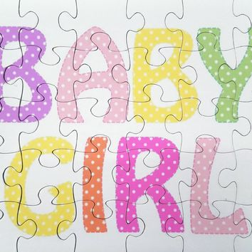 Gender Reveal Unique Idea Jigsaw Puzzle - It's A Boy or It's A Girl Jigsaw Puzzle