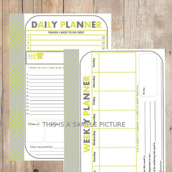 Polka Dots Daily and Weekly Planner / PDF/ Size A4 / Instant Download