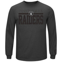 Oakland Raiders Majestic Victory Pride Long Sleeve T-Shirt – Charcoal
