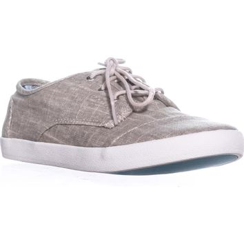 TOMS Paseo Casual Lace-Up Sneakers, Tan Metallic Linen, 10 US / 42 EU