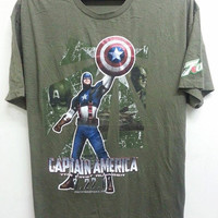 Sale Rare Captain America 7Up The First  Avenger Promo TShirt