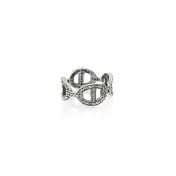 .6ct Anchor Chain Link Pavé Ring