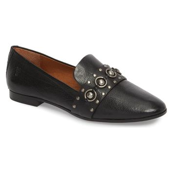 Frye Womens Black Terri Stud Loafer, Size 8.5 (NWOB)