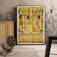 Retro Egyptian Landscape Wall Picture for Living Room Religious Painting Canvas Art Poster and Prints Home Decoration No Frame