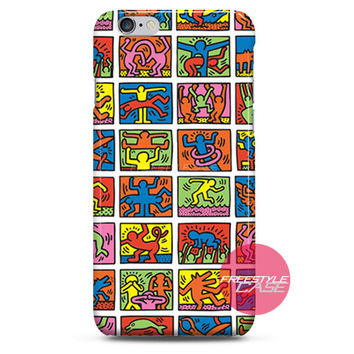 Keith Haring Art Collage iPhone Case 3, 4, 5, 6 Cover
