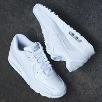 Nike AIRMAX Trending Women Men Casual Pure White Running Sport Shoes Sneakers I