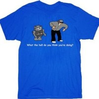 Robot Dance What The Hell Do You Think You're Doing Adult T-shirt Tee