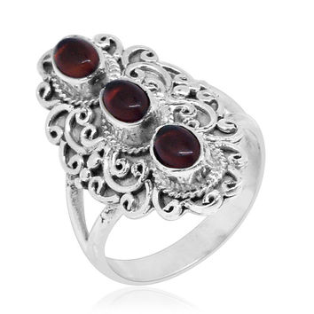 Bali Baltic Amber Sterling Silver Ring