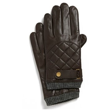 Quilted Leather Gloves by Ralph Lauren