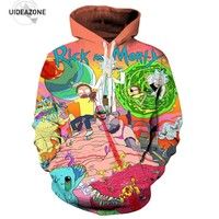 Rick and Morty Men Hoodies 2017 Autumn Winter Brand Clothing Casual Pullovers 3D Cartoon Anime Hoodie Male Sweatshirt Dropship