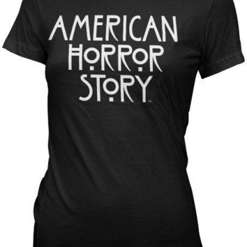 American Horror Story Logo Womens 100% Cotton Fitted T Shirt