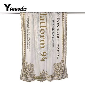 Harry Potter Plataforma Bath Towel Face Hair Bath Quk Dry Adults Washclothes Super Absorbent Shower Towels