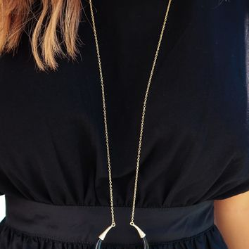 All For Tonight Necklace: Gold/Black