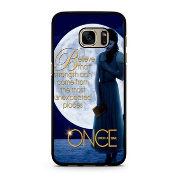 Once Upon A Time Belle Full Moon Samsung Galaxy S7 Case