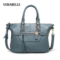 VERABELLE 2017 tassel casual high quality PU leather women shoulder hobos totes purses and handbags messenger female bags
