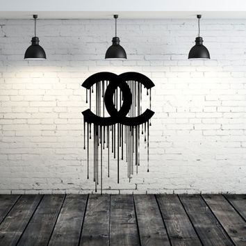 Wall Decal Vinyl Sticker Decals Art Decor Design Chanel Paint Watercolor Office Fashion Style Vouge Girl Bedroom Dorm Mural Fashion (r1264)