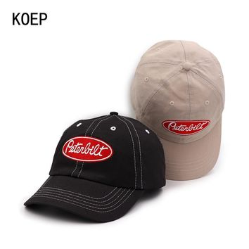 Trendy Winter Jacket KOEP 2018 New 100% Cotton Baseball Cap Embroidery Letter Snapback Caps Fitted Bone Casquette Hat For Men Custom Hats AT_92_12