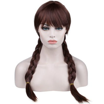 Fashion Cosplay Comic Animation Hair Wig - BROWN