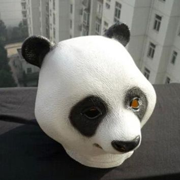 Panda Head Mask Rubber Latex Animal Costume Full head Mask Halloween Costume Fan
