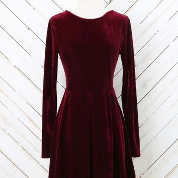 f67c3fe0def Altar d State Velvet Cheers Dress