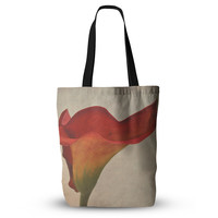 "Iris Lehnhardt ""Calla"" Red Flower Everything Tote Bag"