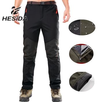9830122ae2 Mens Warm Fleece Pants for Winter Camping Hiking Ski Softshell W
