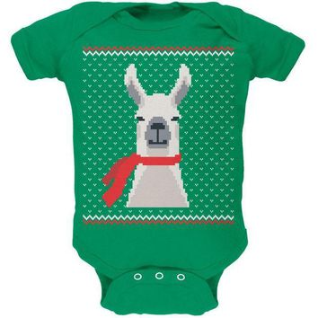 ICIKJY1 Ugly Christmas Sweater Big Llama Soft Baby One Piece