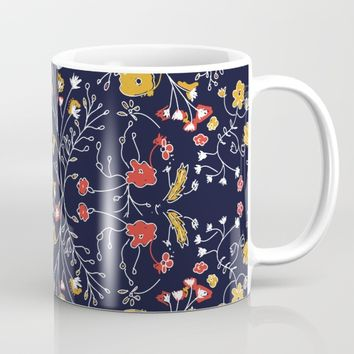 Flowers Pattern Dark Mug by aljahorvat