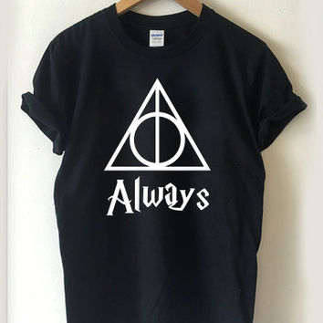 Always Deathly Hallows Symbols Harry Potter T-shirt Men, Women, Youth and Toddler