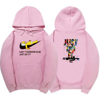 Day-First™ NIKE Print Fashion Women Velvet Hedging Hoodies pullover