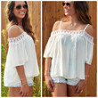 Pettygrove Ivory Off Shoulder Top