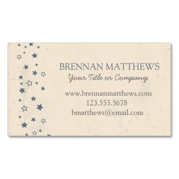 Vintage Style Blue Stars Double-Sided Standard Business Cards (Pack Of 100)