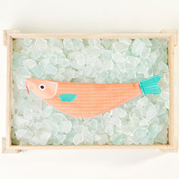 RED MULLET. Bag in fish forna handmade (26 x 6, 5 cm)
