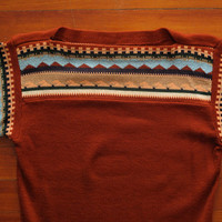 women's vintage 70s bell sleeve sweater.