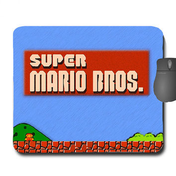MARIO! Custom Made Super Mario Bros Mouse Pad Mousepad