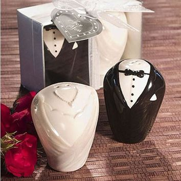 20pcs Beach Theme Wedding Gifts Guest Ceramic Pepper Shaker Wedding Favour wedding gifts guests decoration