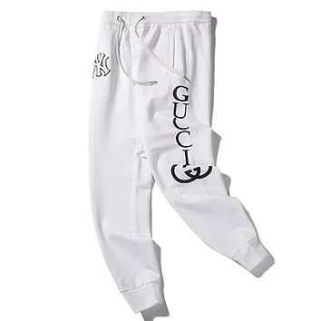 GUCCI x NY joint letter LOGO printing jogging trousers sports pants