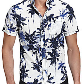 Madison Supply - Palm-Tree-Print Sportshirt - Saks Fifth Avenue Mobile