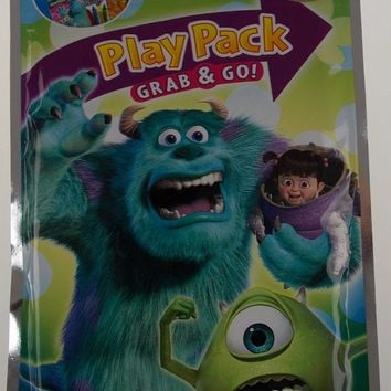 Lot 9 Disney Pixar Monsters Inc Play Pack Grab & Go Coloring Crayons Party Favor