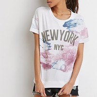Abstract Floral NY Tee
