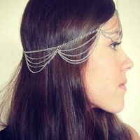 Forehead Dance Head Chain Silver from Lunar Gypsy