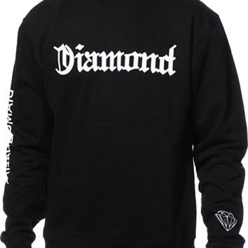 Diamond Supply Co DMND4Life Black Crew Neck Sweatshirt