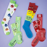 4-Pair M&M's® Knee-High Socks-Great Buy!  Limited Quantities.