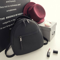 New arrival Women small backpack Casual school bags for teenagers girls Mini PU leather backpack women black back bag mochilas