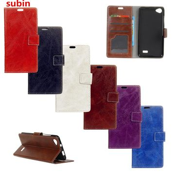 "For Acer Liquid Z6E 5.0"" Case Luxury Flip PU Leather Back Cover Case For Acer Liquid Z6E Case Phone Bag With Slots"