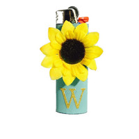 Sunflower lighter with personalized initial