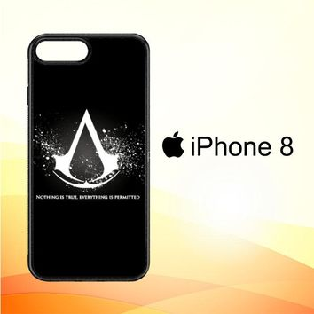 Assassins Creed Symbol Glow Z4434 iPhone 8 Case